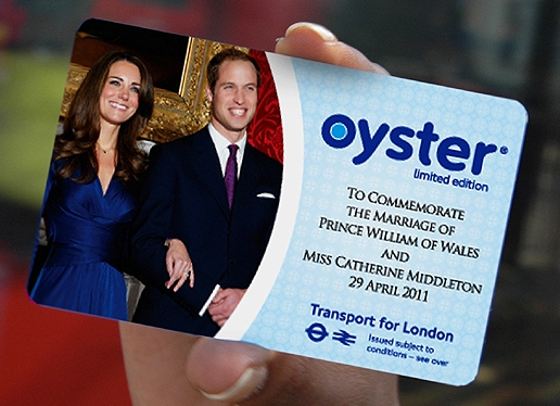 The Royal Wedding Oyster card